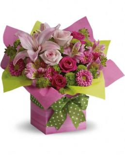 Pretty Pink Present Bouquet