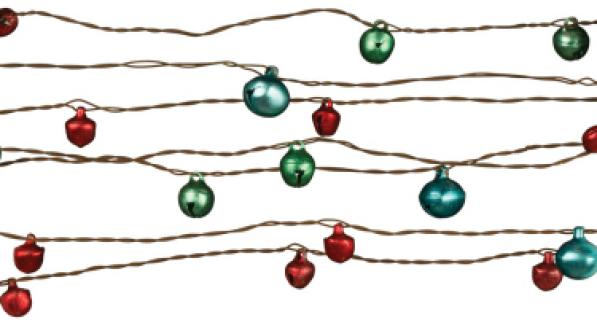 Bell Wire Garland red/green/blue 24\'