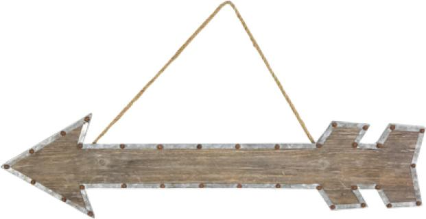 Decorative Arrow Hanger- Lg