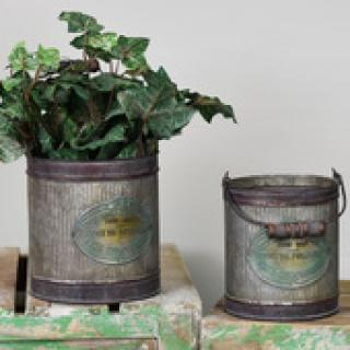 Large Old Tin Garden Can