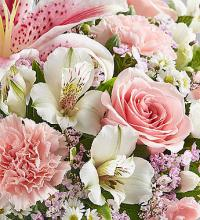 Florists Choice Pink & White Bouquet Deluxe