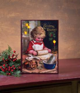 Lighted Christmas Cookie Canvas 46225