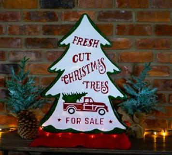 Tree Shaped Metal Sign