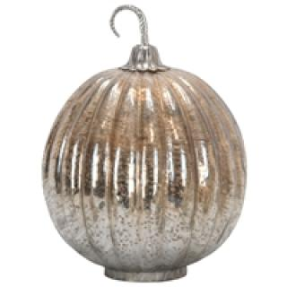 Large Foil Glass Lustre Mercury Pumpkin
