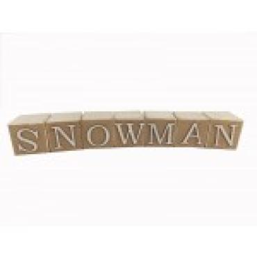 """Snowman\"" Wooden Blocks"