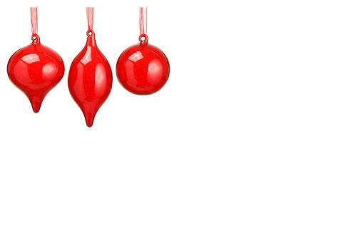 Red Glass Ornament
