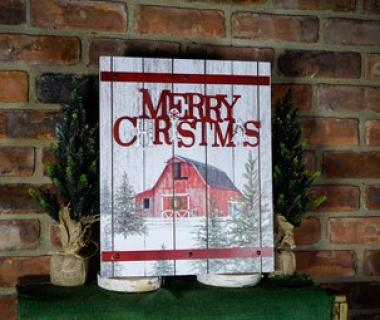 Rustic Christmas Barn Sign