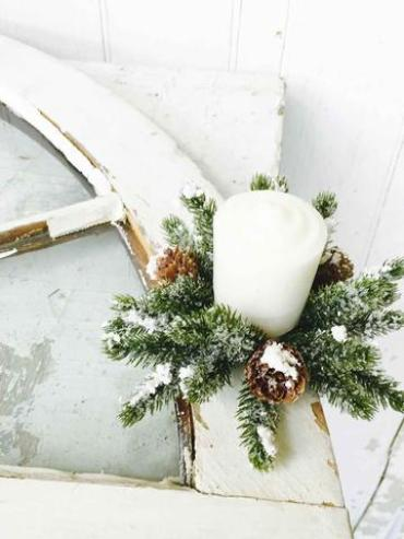 Snowy Mini Cone Candle Ring | Mini