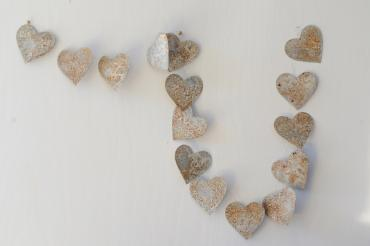 Tin Heart Garland
