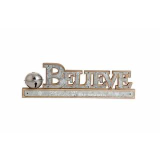 Belive Tabletop Sign w/ Bell