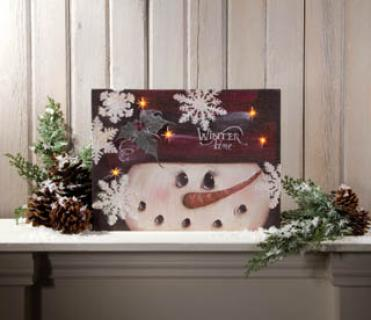 Lighted Winter Time Canvas 46490