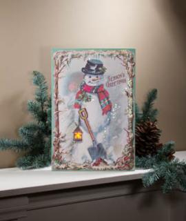 Lighted Greeting Canvas 46537