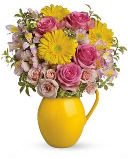 Teleflora\'s Sunny Day Pitcher of Charm