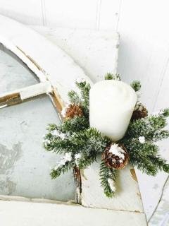 Snowy Mini Cone Candle Ring