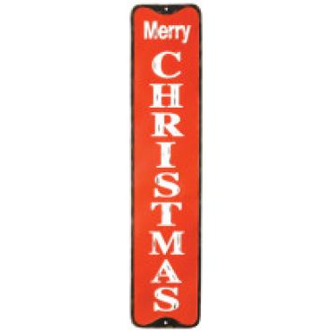 Metal Christmas Sign, Vertical