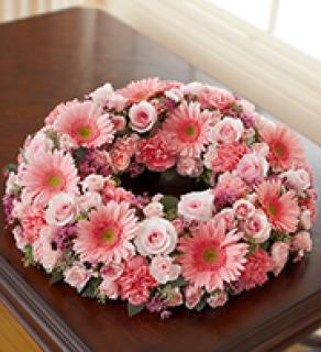 Cremation Wreath-All Pink