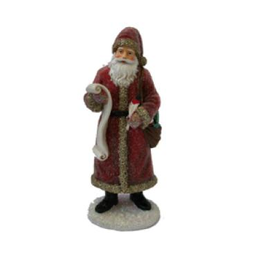 Resin Sugar Santa Red 8.25""