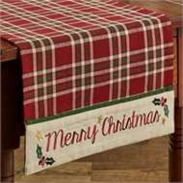 "Merry Christmas Table Runner - 36""L"