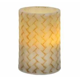 Basketweave Pillar Candle