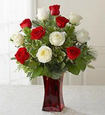 Long Stemmed Holiday Roses