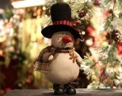 Country Snowman With Hat