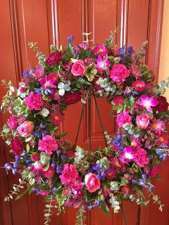 Jewel Tone Wreath