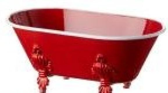 Small Red Bathtub Container