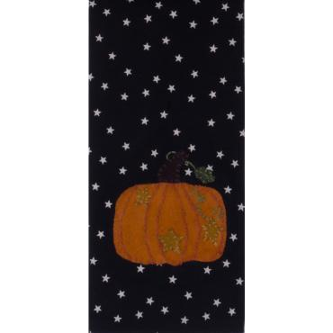 Starry Starry Pumpkin Black Table Runner