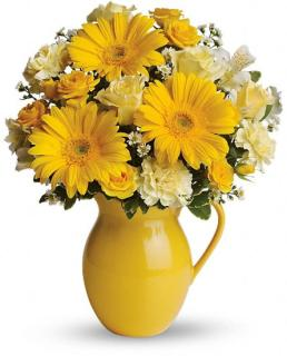 Teleflora\'s Sunny Day Pitcher of Cheer