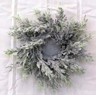 2in (9in spread) Illinois Flocked Pine Candle Ring