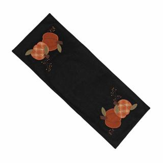 Pumpkin Thyme Table Runner Black