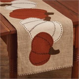 "Pumpkin Patch Felt Table Runner - 42""L"