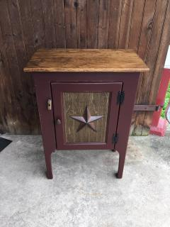 "31"" Red Cabinet with Star Door"