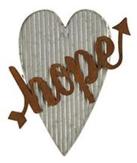 Hope Corrugated Metal Heart