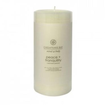 Peace + Tranquility Medium Pillar Candle