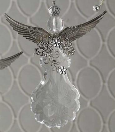 Crystal Winged Angel Ornament