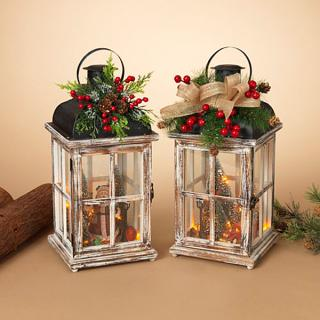 Lantern With Holiday Scene