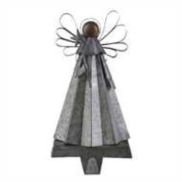 Galvanized Angel Stockings Hanger