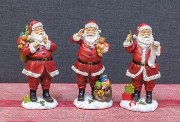 Assorted Santa with Presents Tabletop