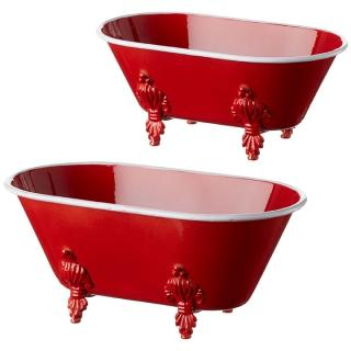 Red Bathtub Container