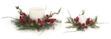 Medium Berry/Pine Candle Ring