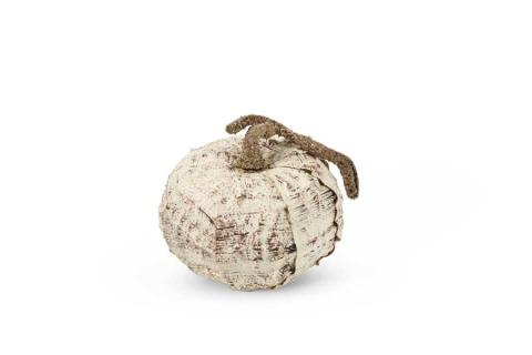 6.5 Inch Birch Pumpkin w/Brown Stem
