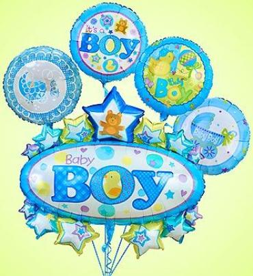 Baby Boy Marquee Mylar Bundle Medium