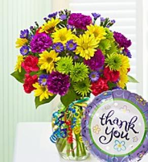 It\'s Your Day Bouquet/Thank You Balloon