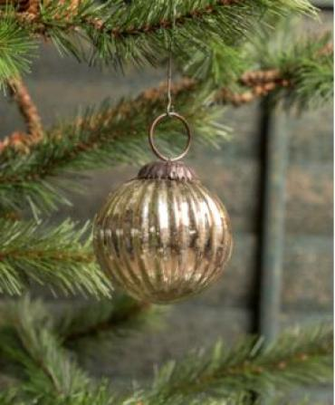 Small Ribbed Kugel Ornament