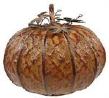 Large Tin Pumpkin with Stem