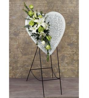 White Heart Lily Easel