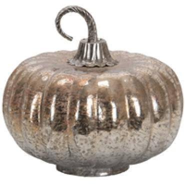 Medium Foil Glass Lustre Mercury Pumpkin