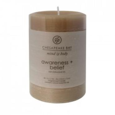 Awareness + Belief Small Pillar Candle