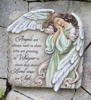 Memorial Angel Plaque